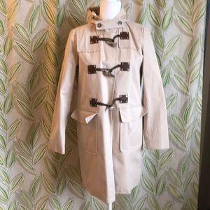 Michael Kors trench style hooded raincoat